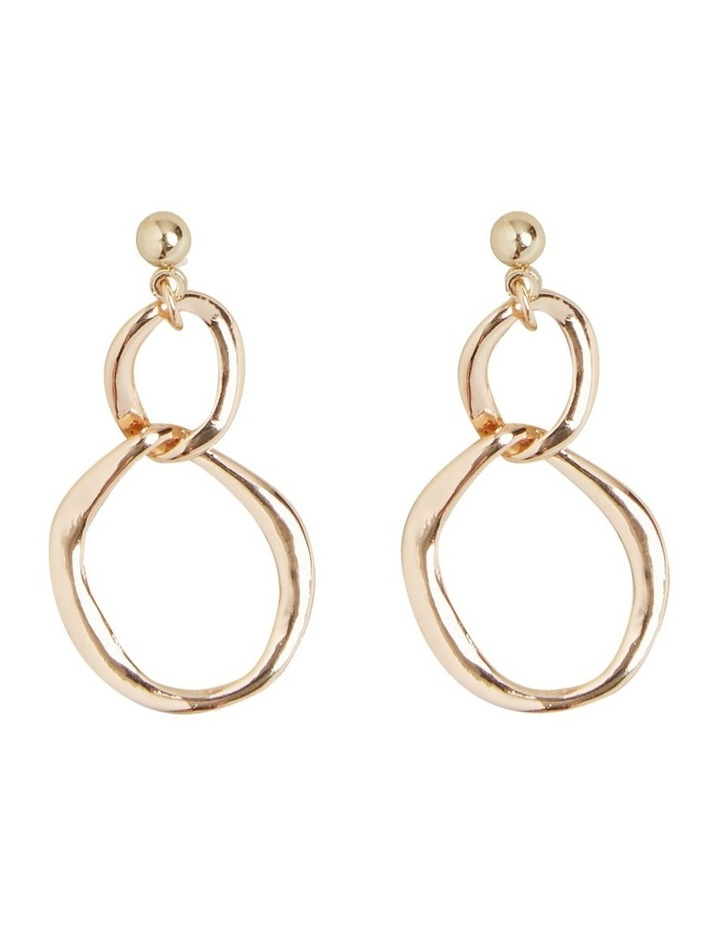 Double Circle Drop Earring image 1