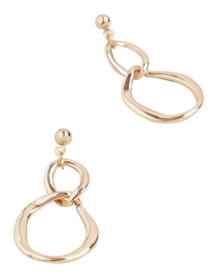 Double Circle Drop Earring image 3
