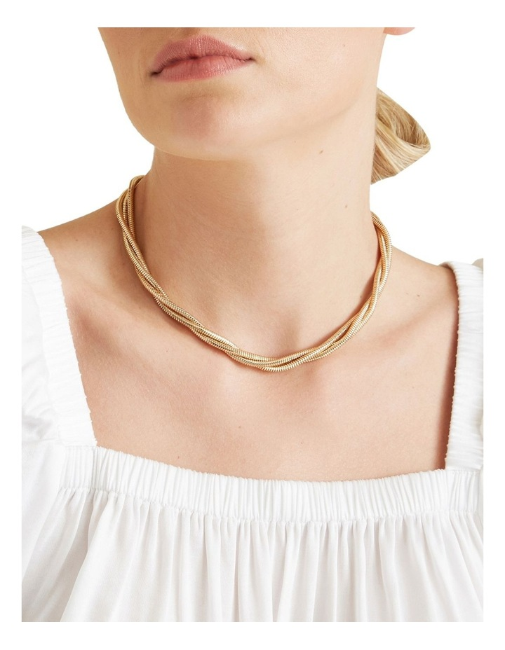 Twisted Gold Necklace image 2