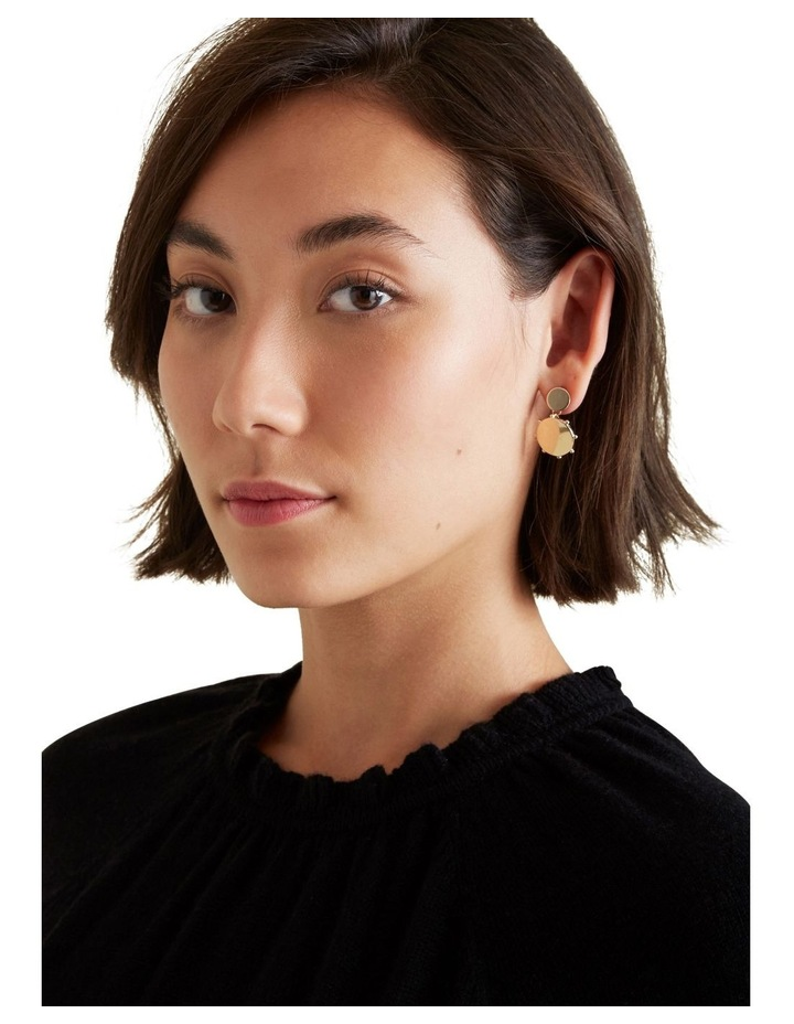 Disc Drop Earrings image 2