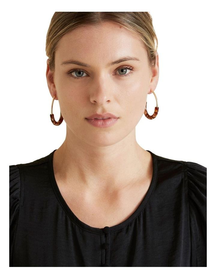 Semi Gold Earrings image 2