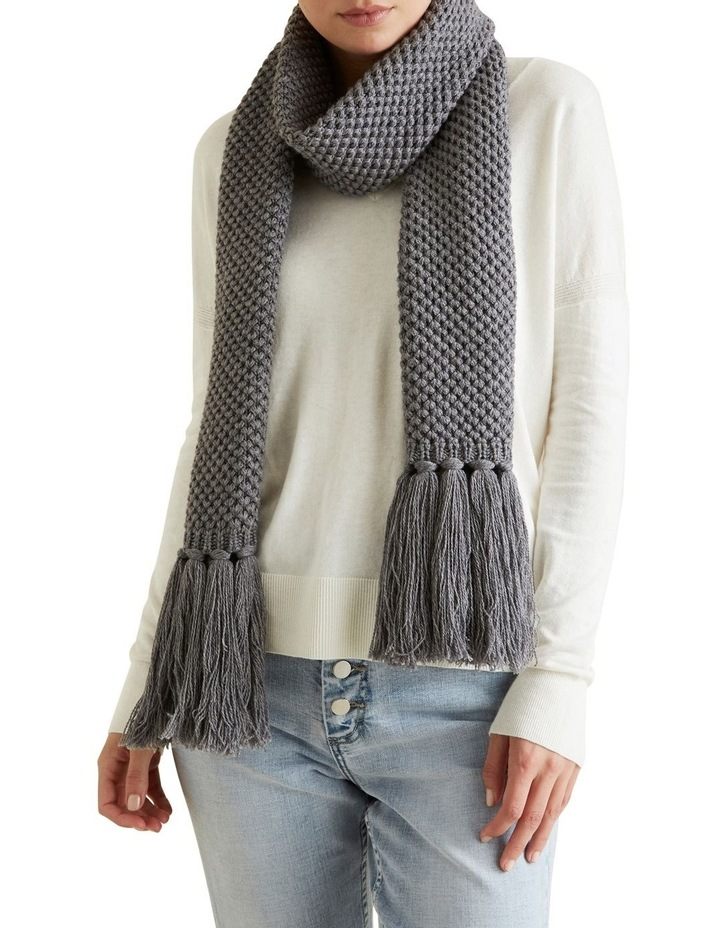 Tassle Knit Scarf image 2