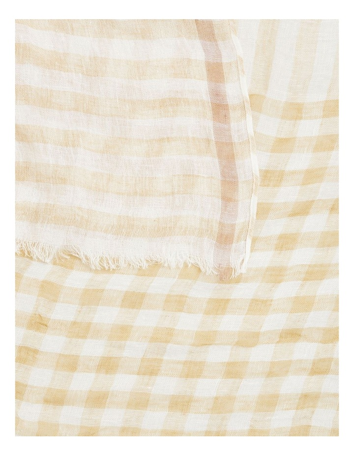 Linen Check Scarf image 3