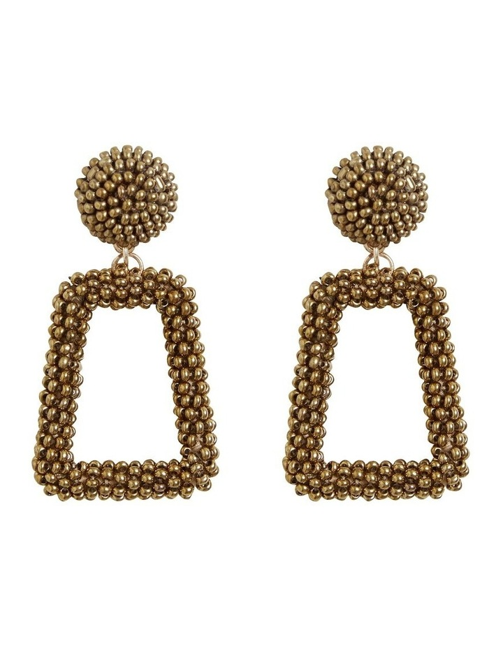 Square Beaded Earrings image 1