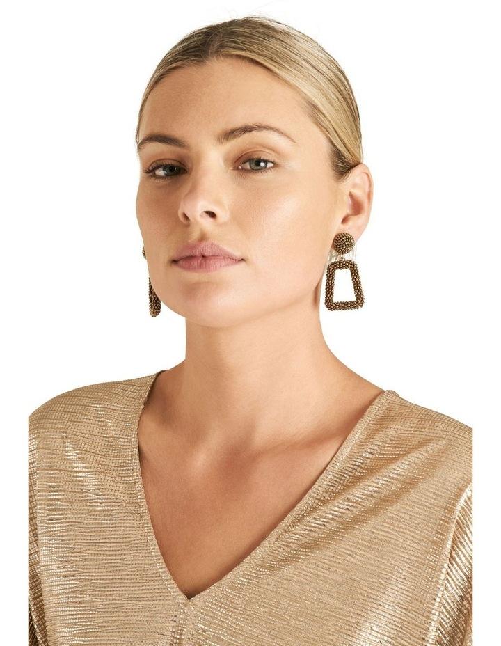 Square Beaded Earrings image 2