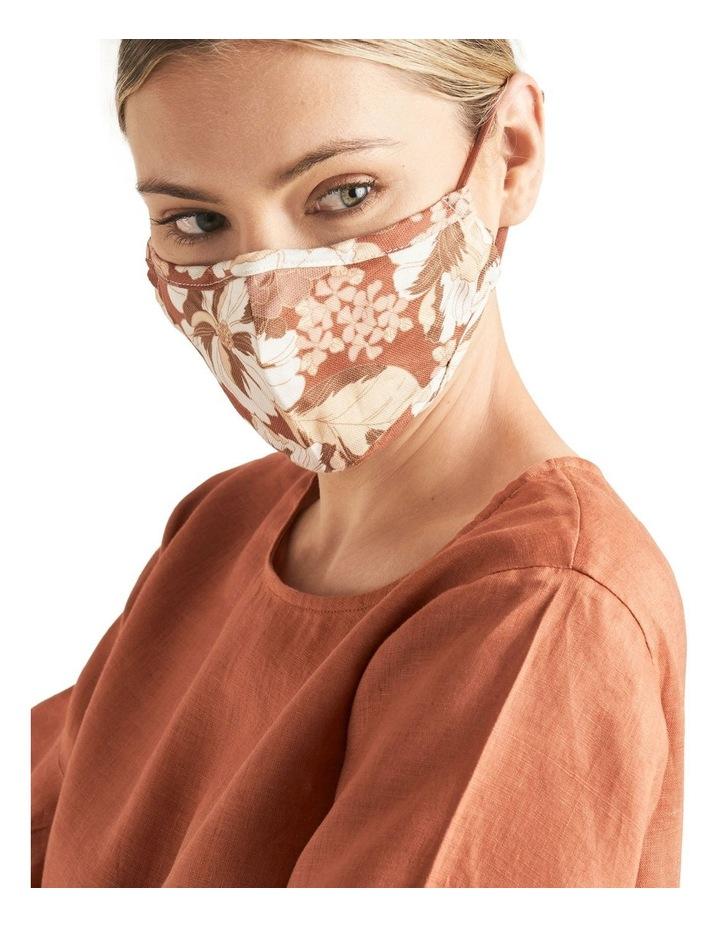Adjustable Floral Face Mask image 2