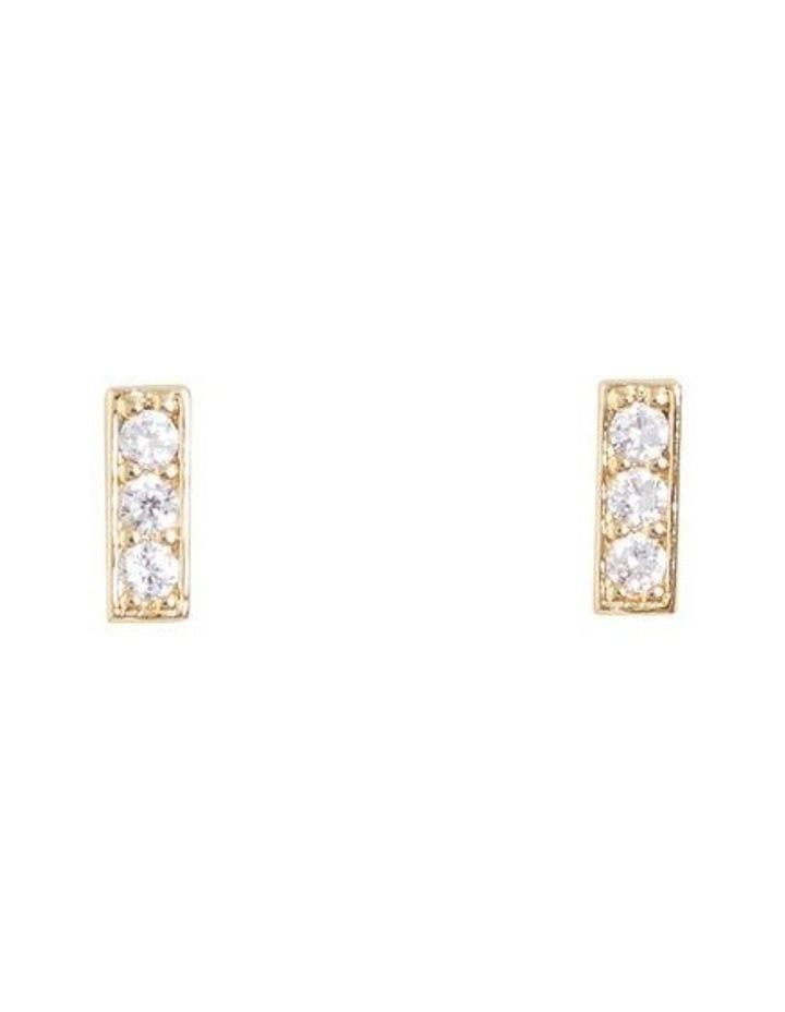 Fine Diamante Bar Studs image 1