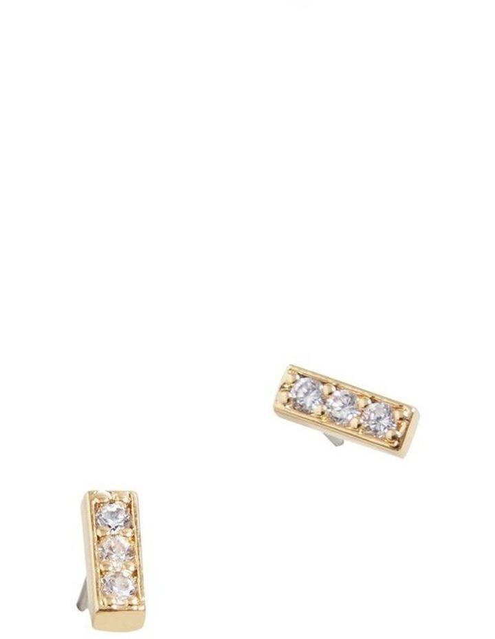 Fine Diamante Bar Studs image 3