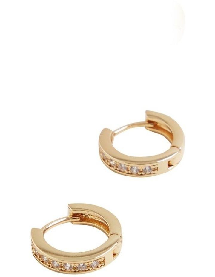 Fine Diamante Huggie Hoops image 3