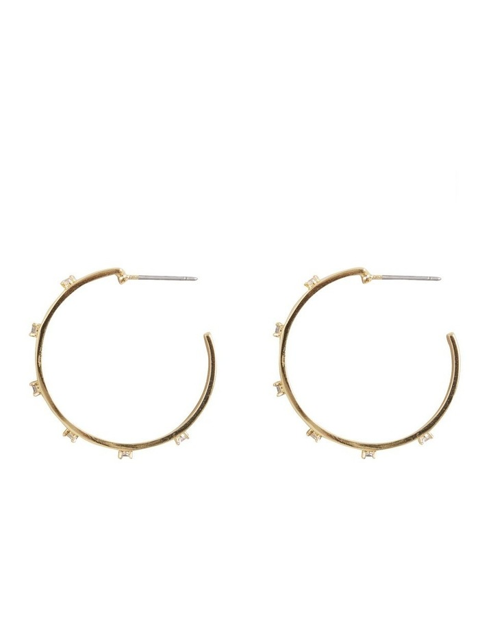 Fine Large Diamante Hoops image 1