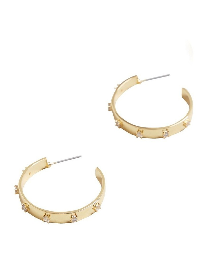 Fine Large Diamante Hoops image 3