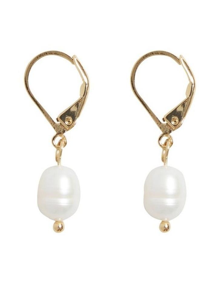 Fine Pearl Drop Earrings image 1