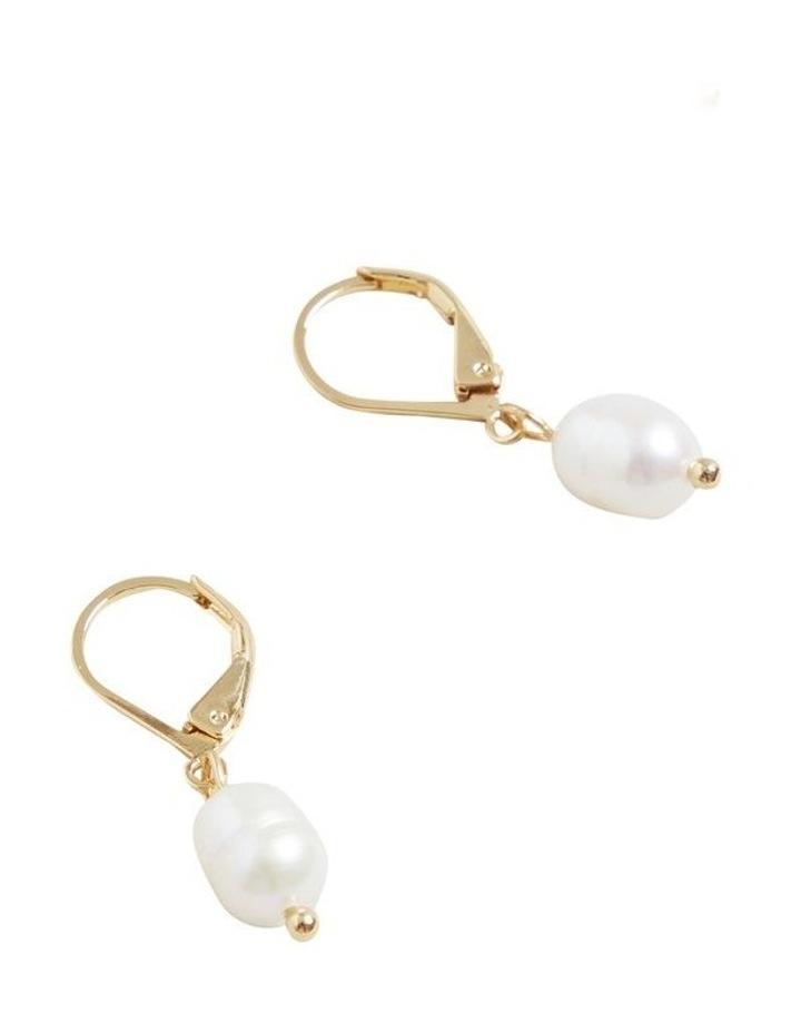 Fine Pearl Drop Earrings image 3