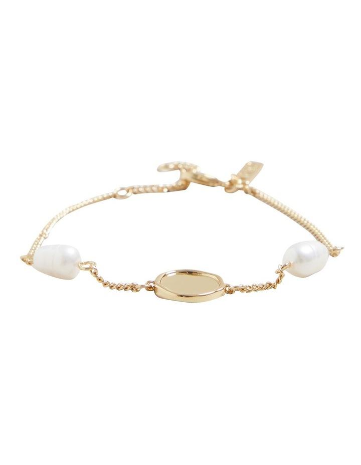 Fine Pearl Disc Bracelet image 1