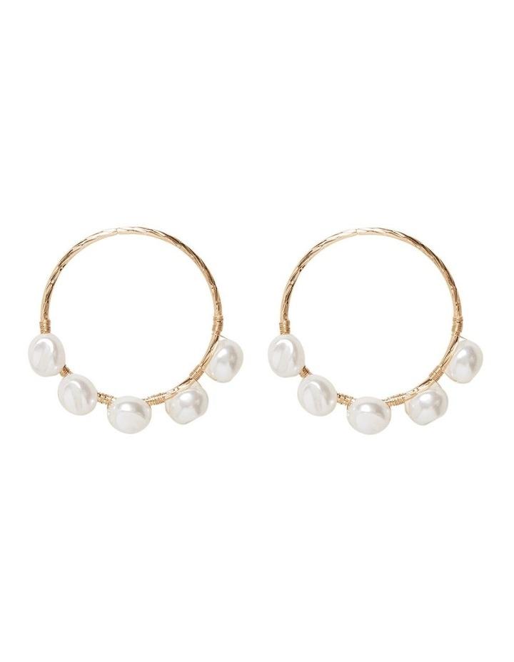 Front Facing Pearl Earrings image 1