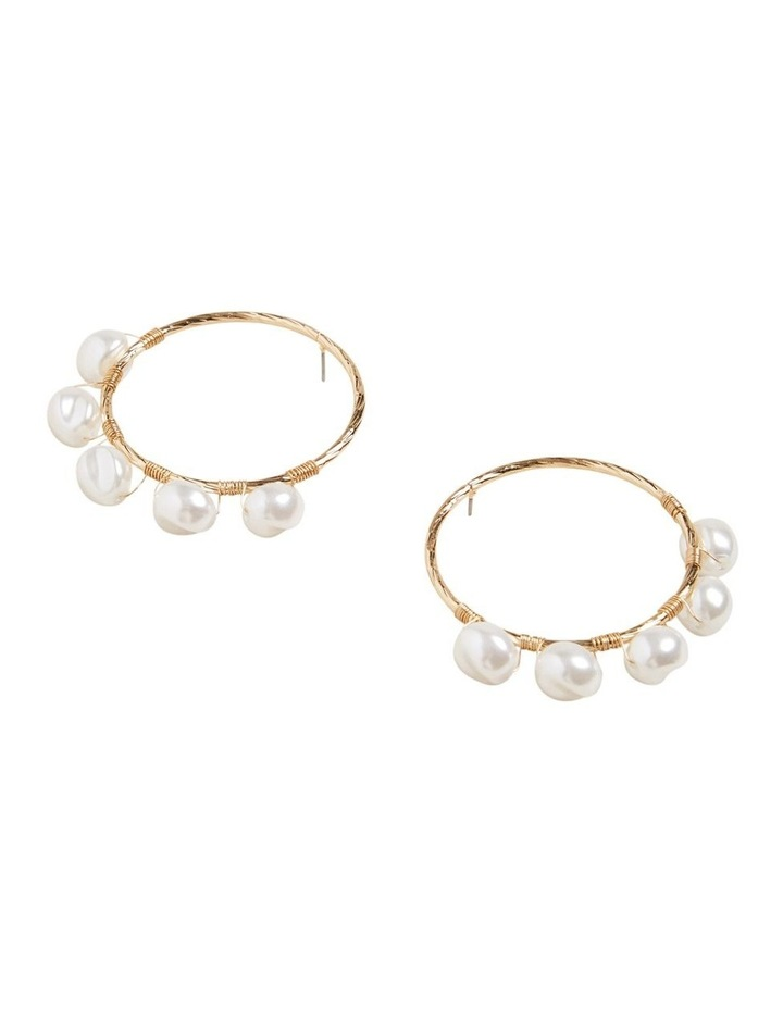 Front Facing Pearl Earrings image 3