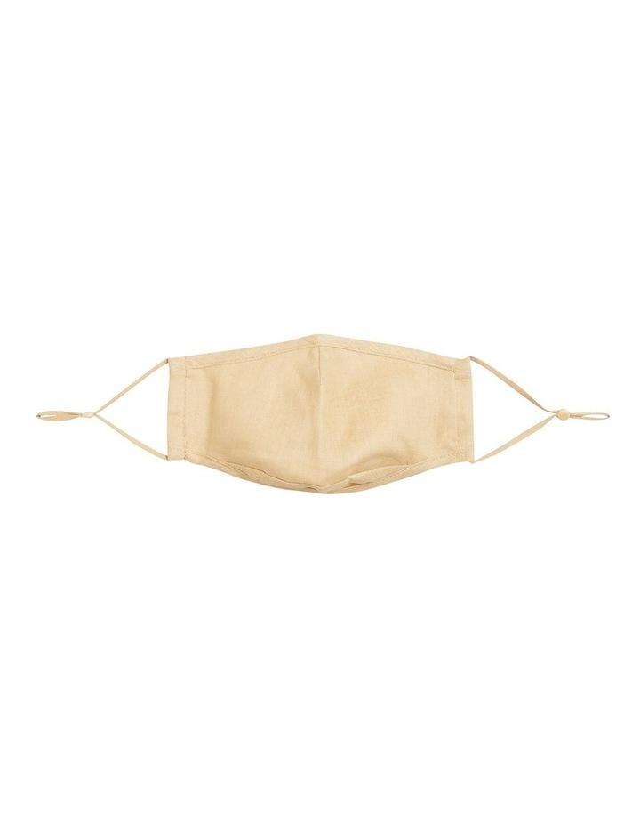 Adjustable Linen Face Mask image 1