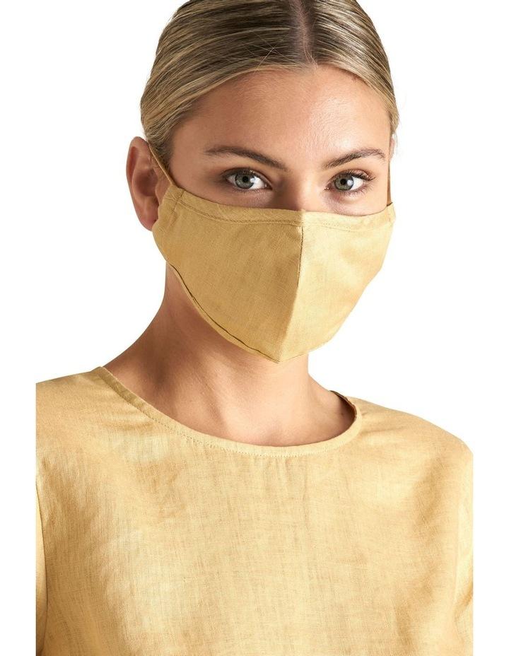 Adjustable Linen Face Mask image 2