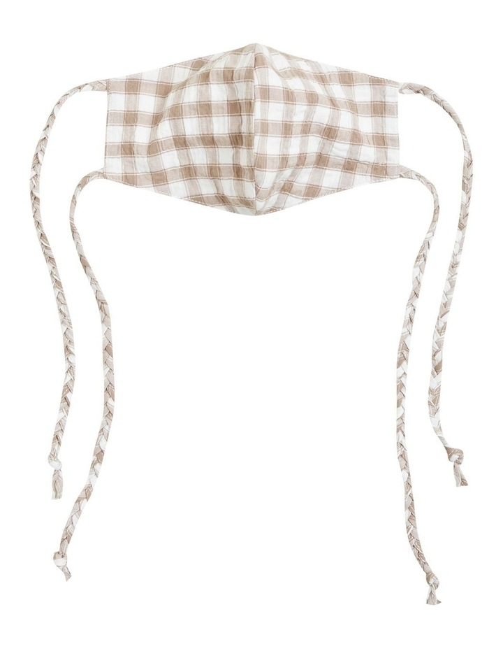 Gingham Tie Face Mask image 1