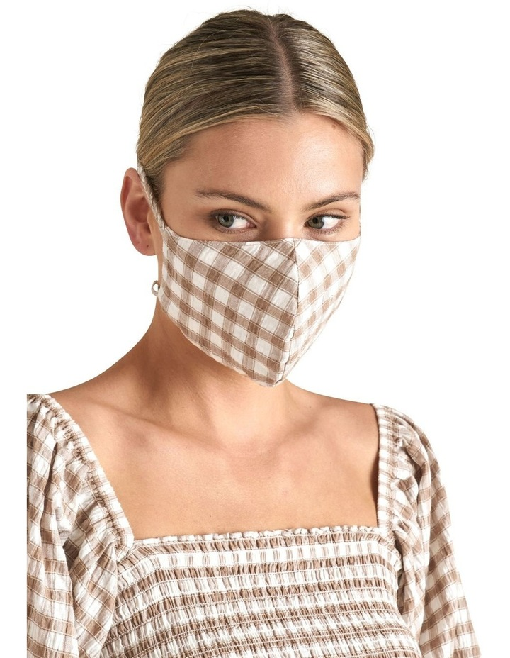 Gingham Tie Face Mask image 2