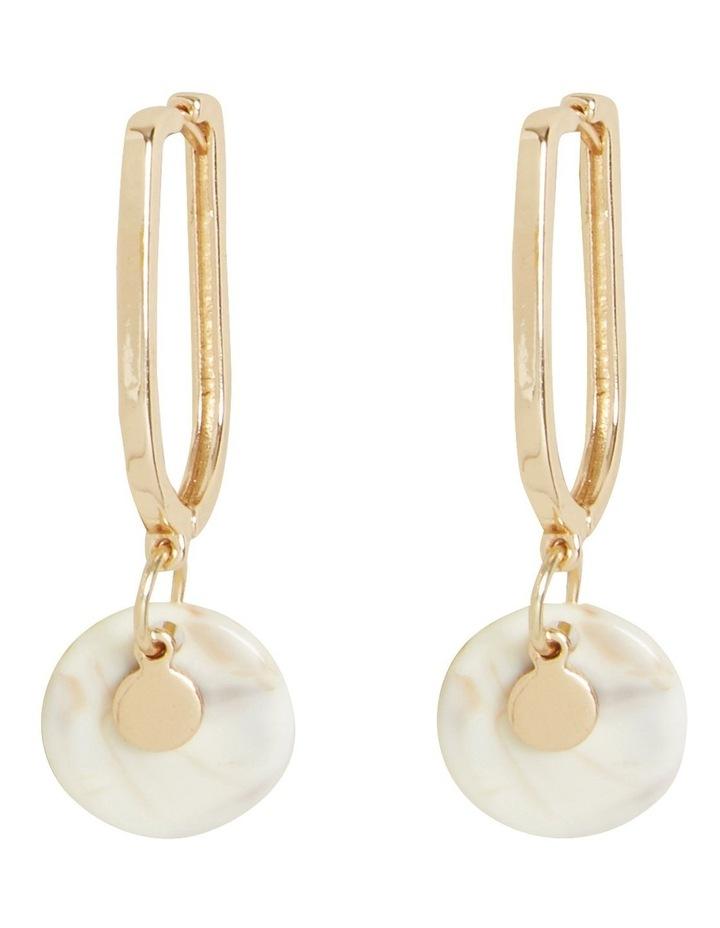 Tort Hoop Drop Earrings image 1