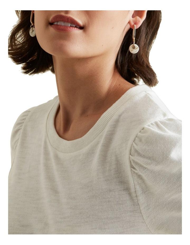 Tort Hoop Drop Earrings image 2