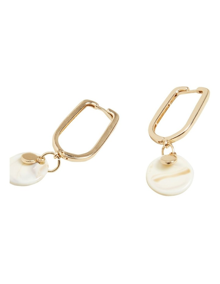 Tort Hoop Drop Earrings image 3