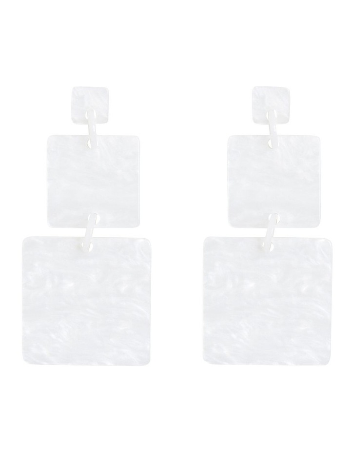 Double Square Drop Earrings image 1