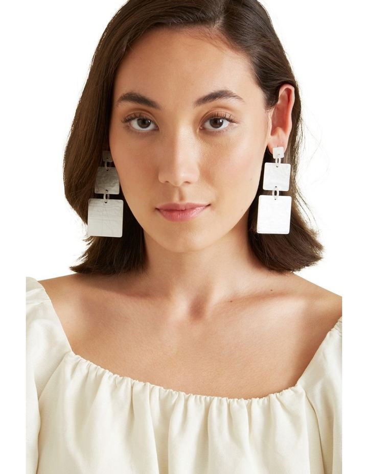 Double Square Drop Earrings image 2