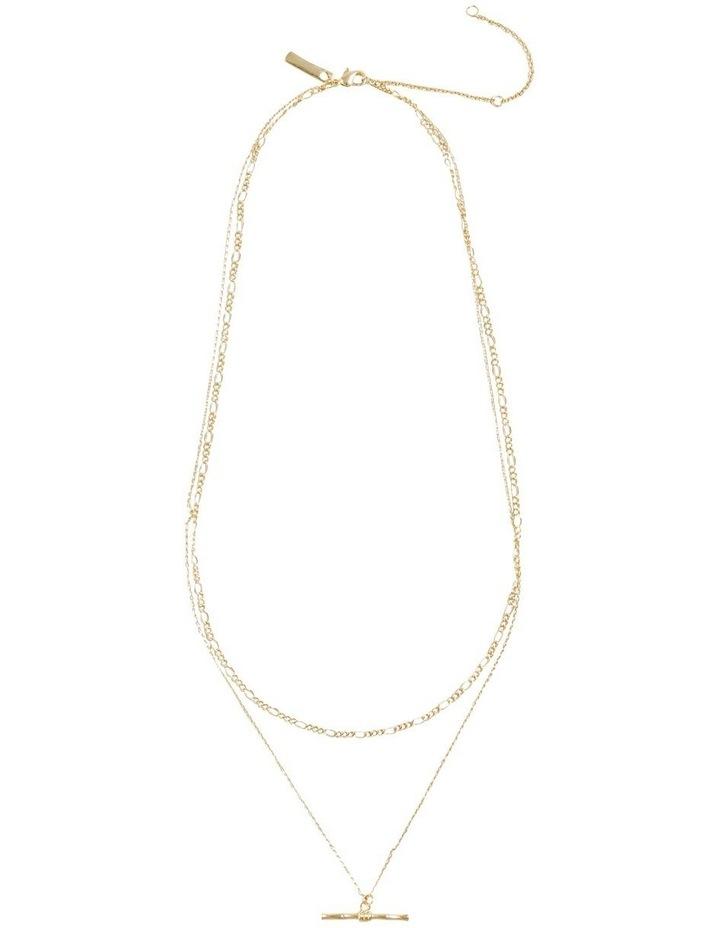 Fine T Bar Necklace image 1