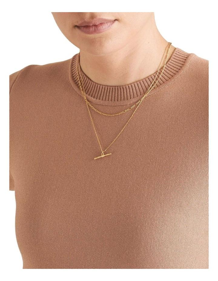 Fine T Bar Necklace image 2