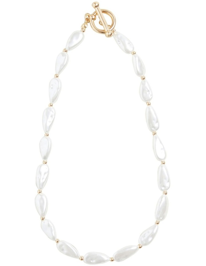 T Bar Pearl Necklace image 1