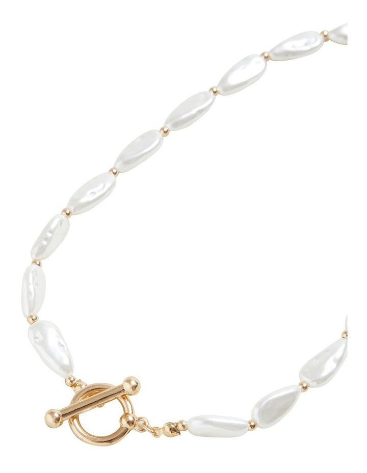 T Bar Pearl Necklace image 3