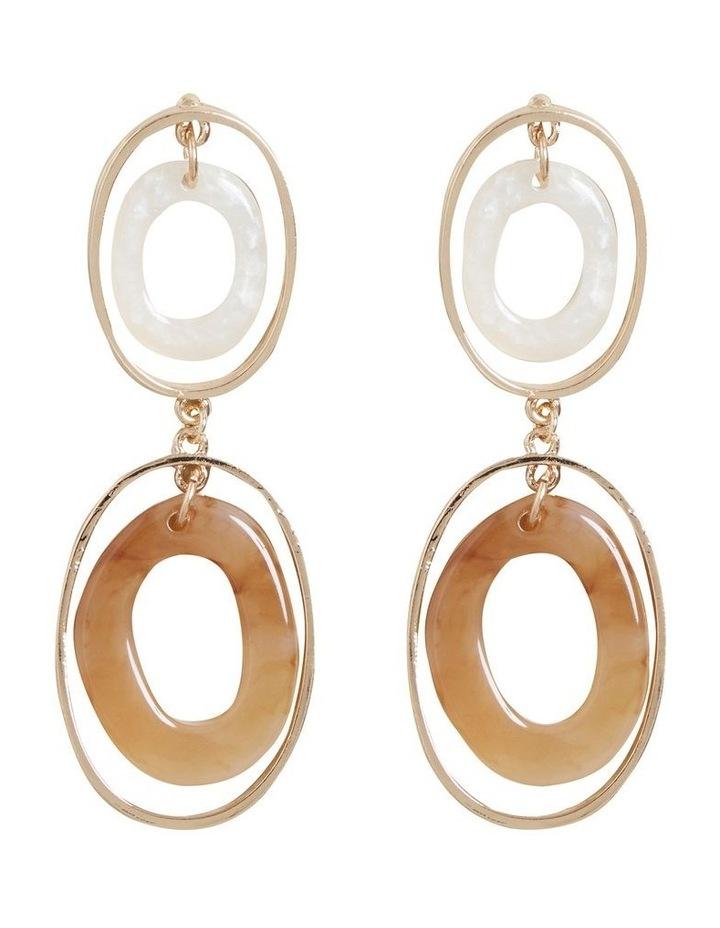 Double Oval Resin Earrings image 1