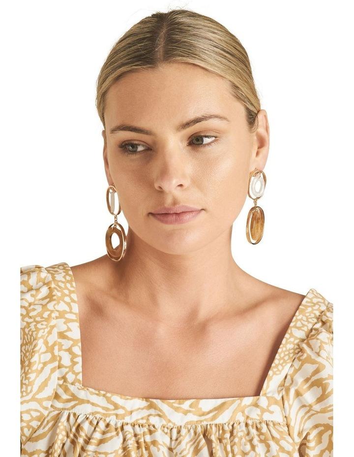 Double Oval Resin Earrings image 2
