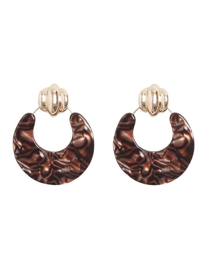 Door Knocker Resin Earrings image 1