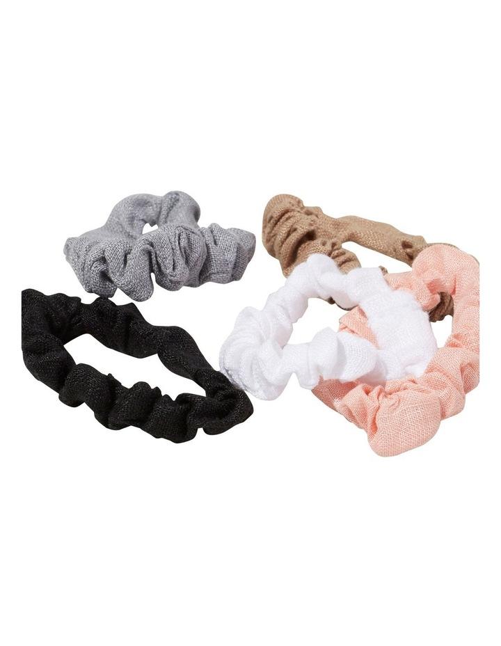 Linen Mini Scrunchies image 2