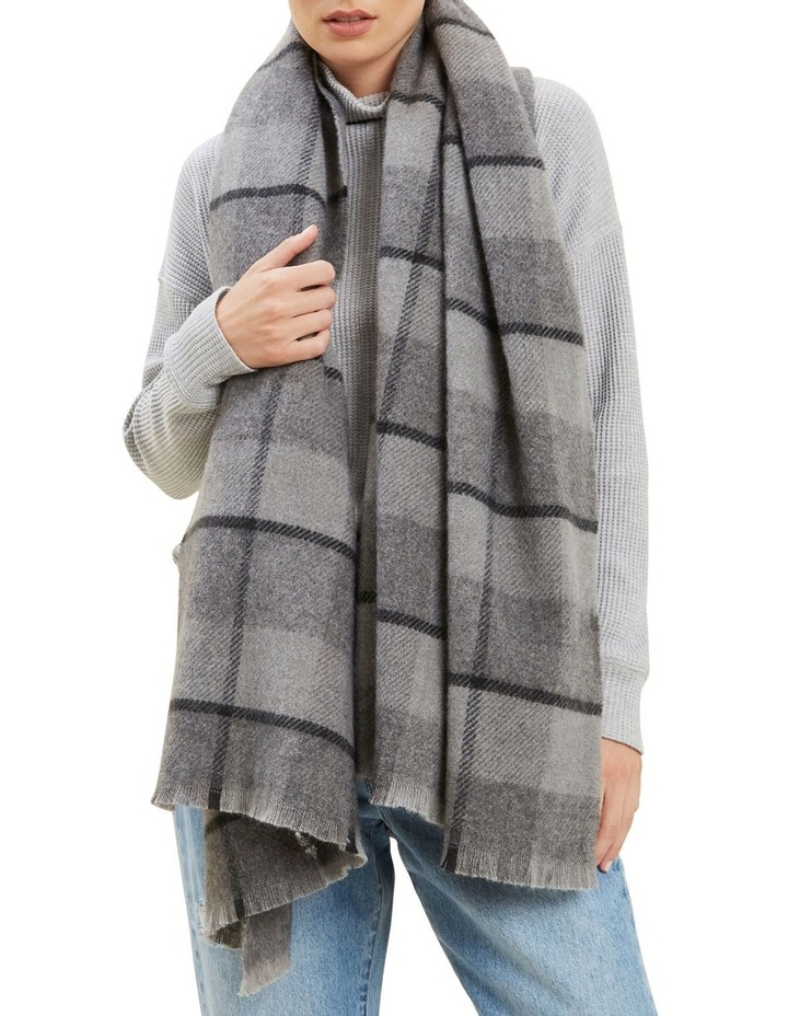 Wool Check Scarf image 2