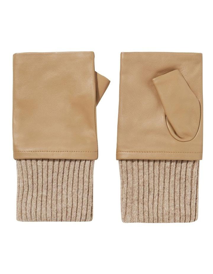 Leather Fingerless Gloves image 1