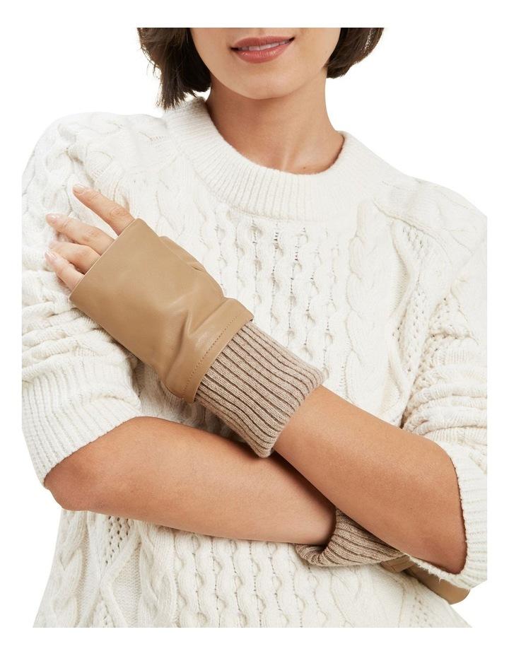 Leather Fingerless Gloves image 2