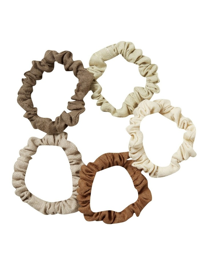 Linen Mini Scrunchies image 1