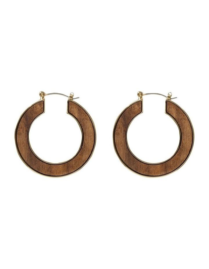 Wood Inlay Hoops image 1