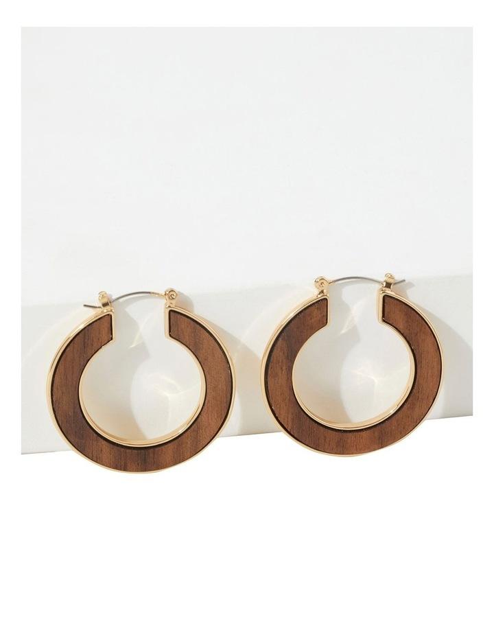 Wood Inlay Hoops image 3