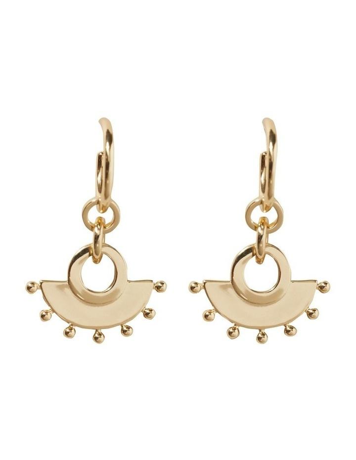 Studded Half Moon Earrings image 1