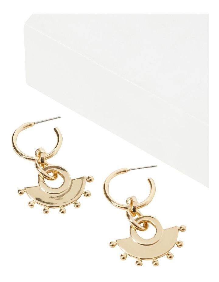 Studded Half Moon Earrings image 2
