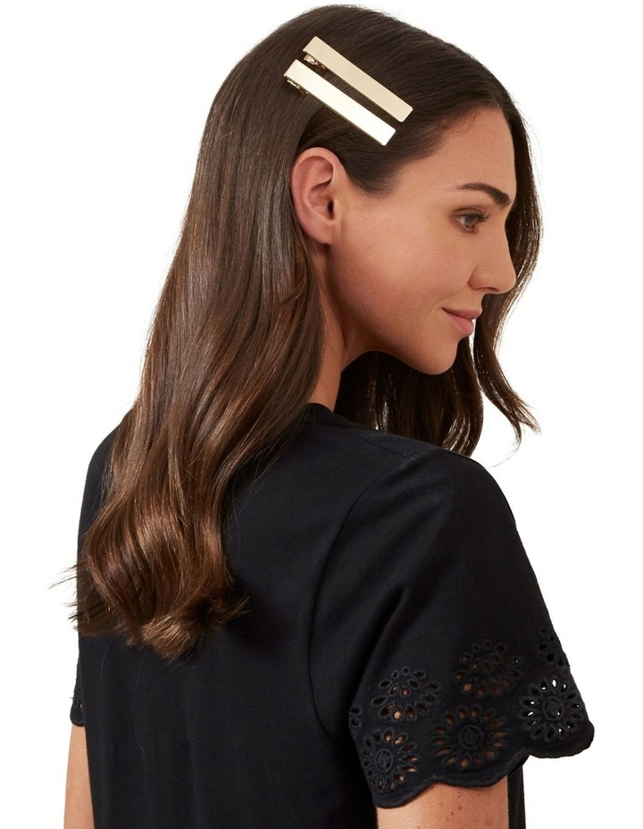 Gold Slide Hair Clips image 2