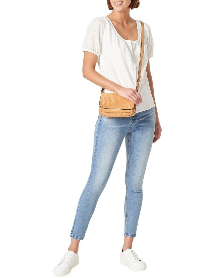 Sueded Cross Body Bag image 2