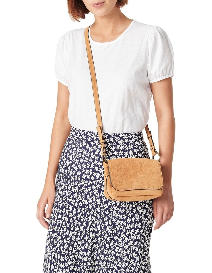 Sueded Cross Body Bag image 5