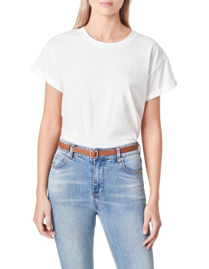 Skinny Square Buckle Belt image 2