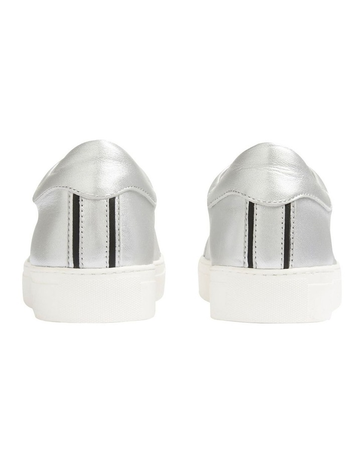 Silver Leather Sneaker image 3